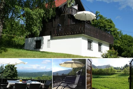 Traditional alpine chalet with stunning views - Brezje nad Kamnikom