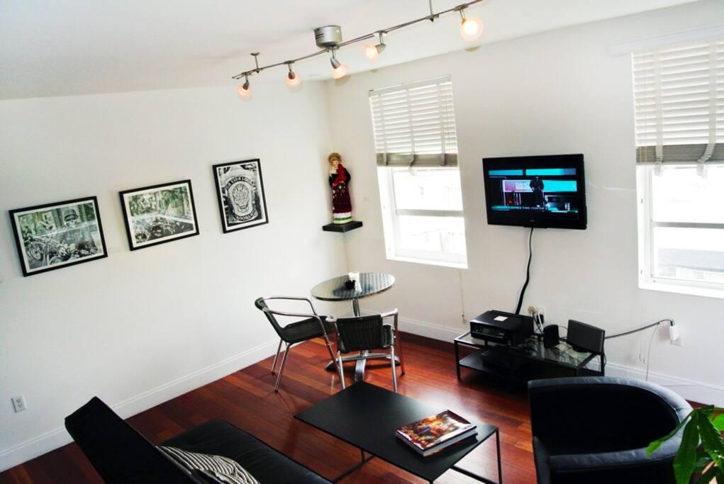 Living Room, corner apartment