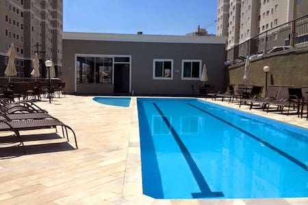Quarto em residencial com piscina e academia - Campinas - Apartment
