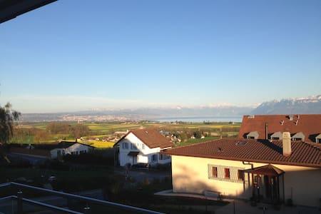 Magnifique vue Lac Léman et Alpes - Appartement