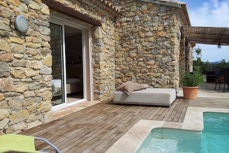 HOUSE IN STONES WITHOUT FACE TO FACE.. - Le Cannet-des-Maures - Haus