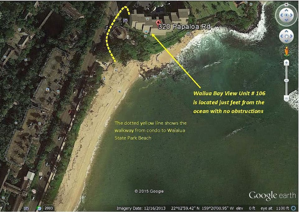 As you can see from this map, the unit is just feet from the ocean and you also have easy access to the beach