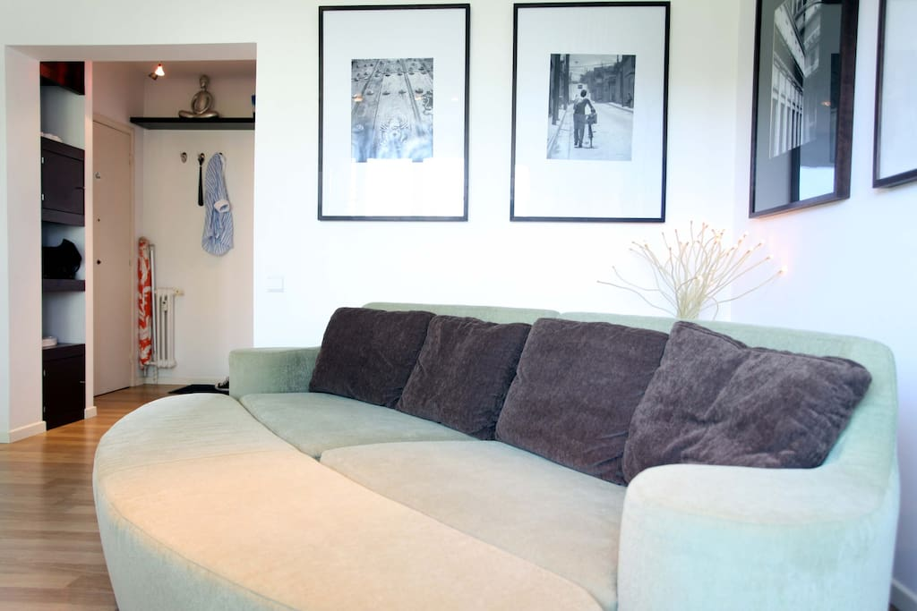 Spacious living room with configurable sofa bed (can sleep unto 2 adults)