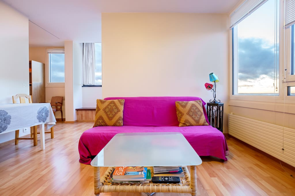 Comfy flat (1-4p) with amazing view
