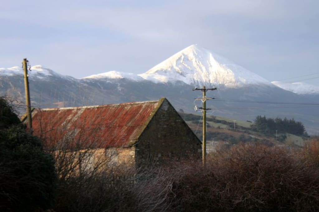 View of Croagh Patrick taken from your room, in Feb, it will be sunny in the summer!
