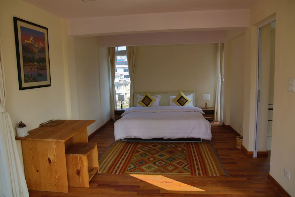 Jasmine suite room is spacious, has comfortable king size bed