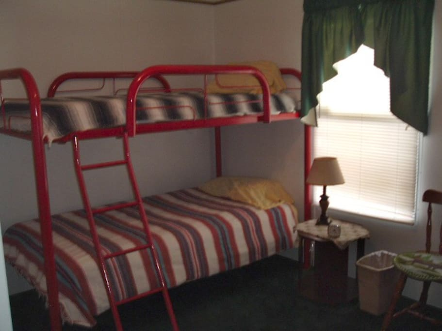 Bedroom #3 with twin Bunk Beds