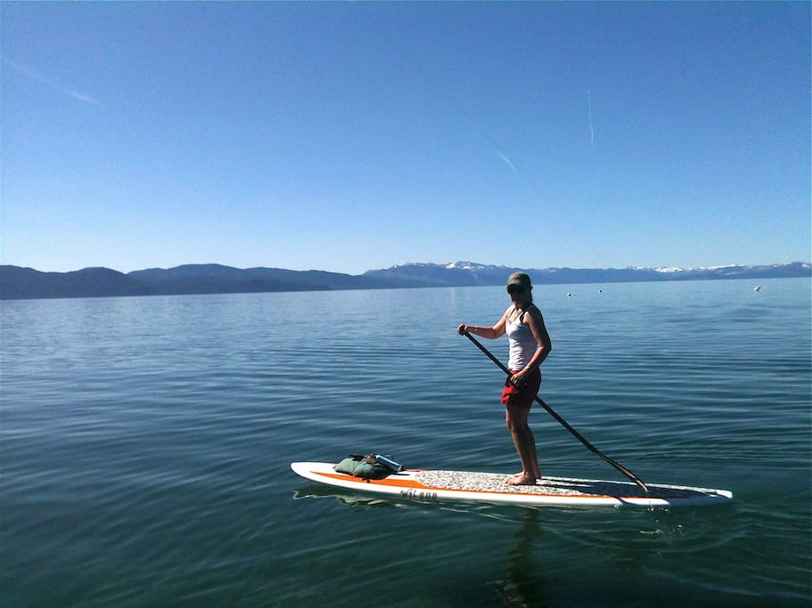 close to Kings Beach, paddle boarding, and/or kayaking