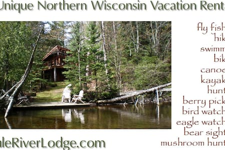 Brule River Lodge, upper Brule, WI  - Kisház