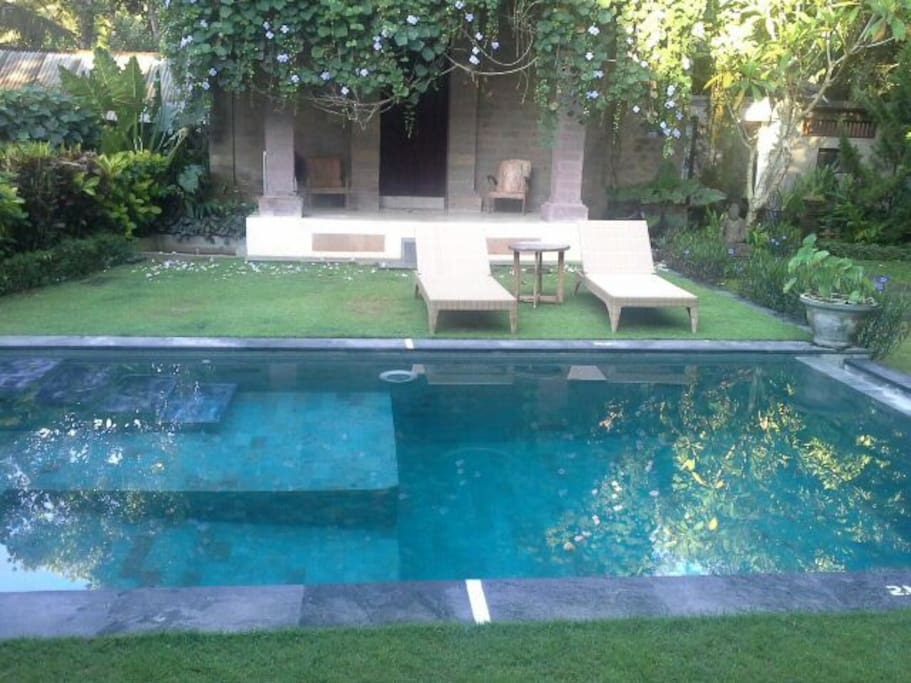 Pool, private garden
