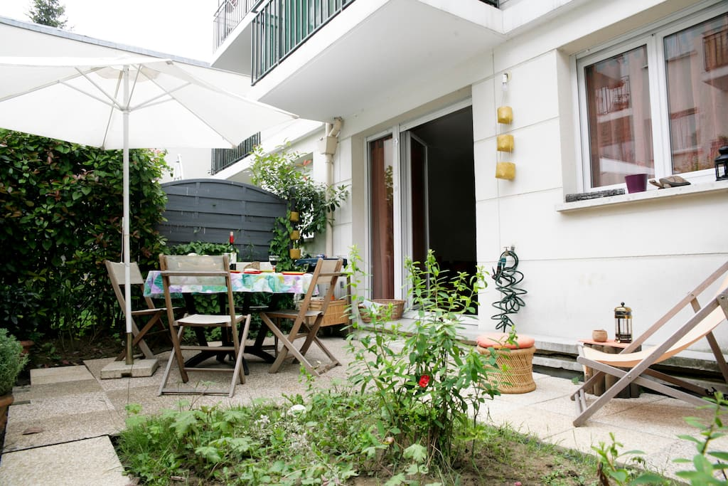 Cozy 1BD with garden, gate of Paris