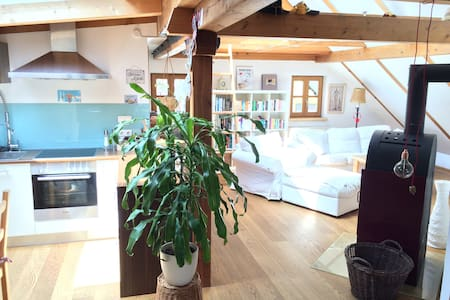 Lovely attic flat with beautyful roof top terrace - Apartment