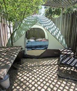 Comfy guest tent- great location!