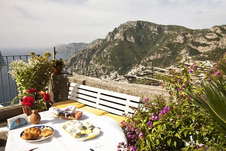 Nice Loft on the hill of Positano seaview parking - Positano