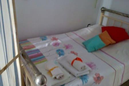 navy simple quiet apartment center - Syros