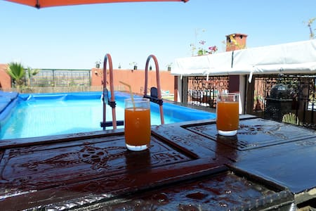 Riad Zinnha jolie de l'enterieur en marocain - Marrakesh