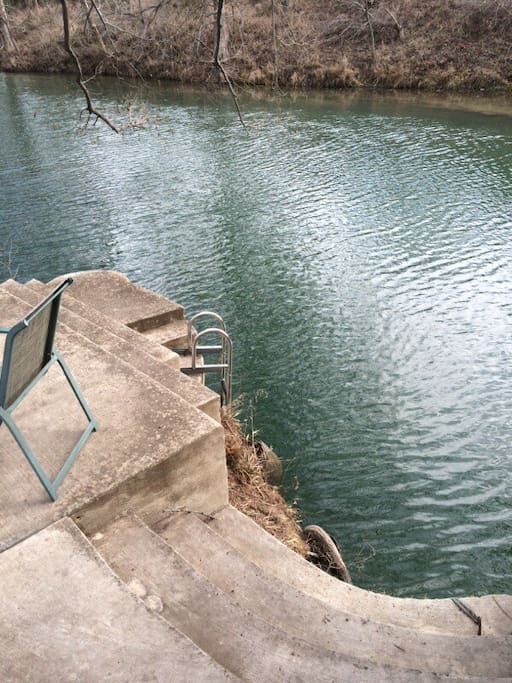 Ramsay House B&B is one of the deepest swimming holes in Wimberley!