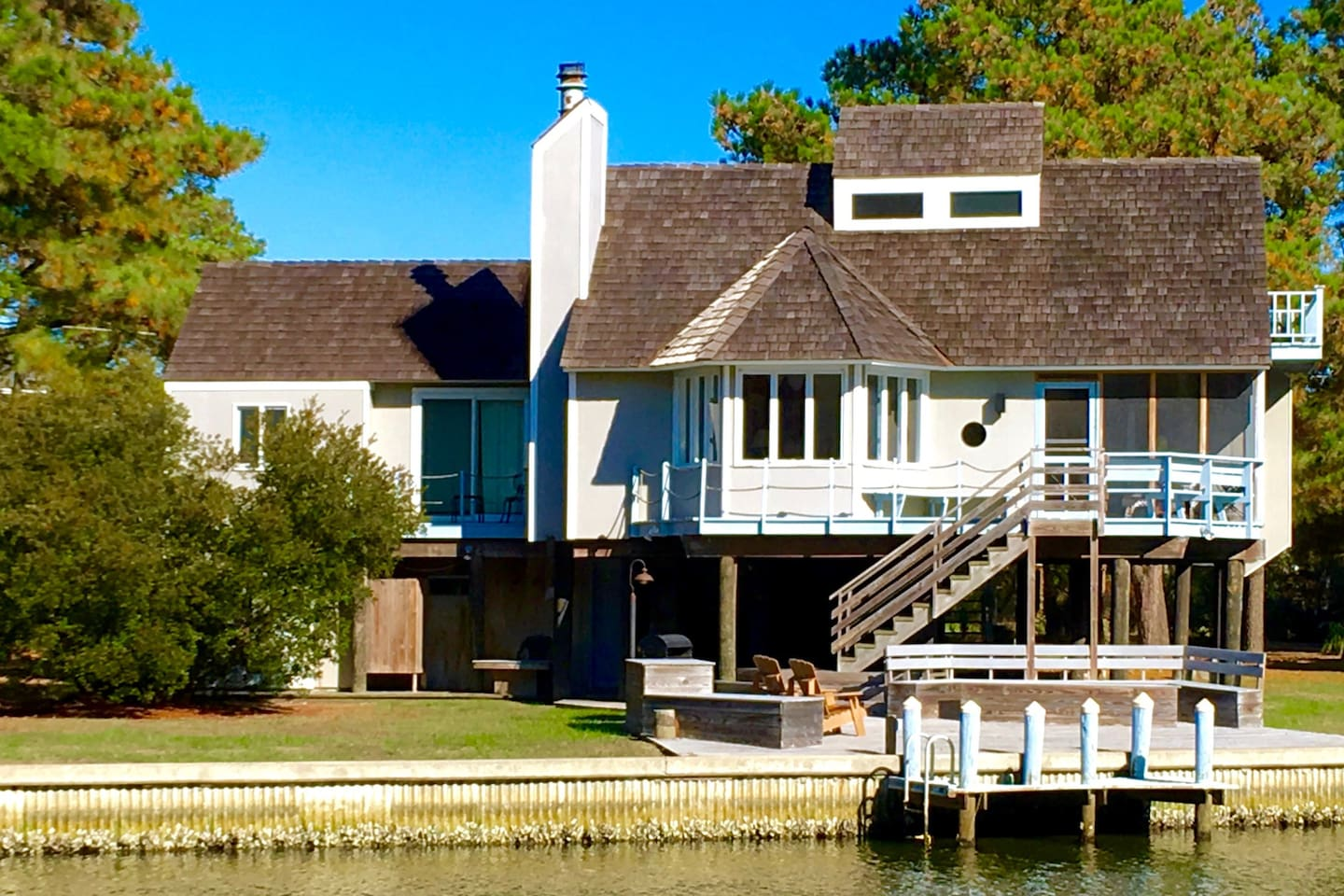 Chincoteague Island's Spinnaker Waterfront Vacation Rental Home from the  Water
