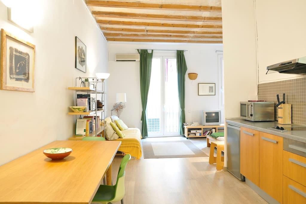 Comfortable studio in Barcelona
