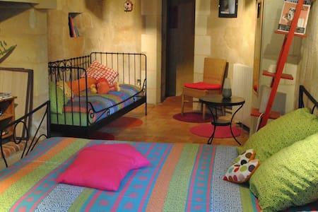 Chambre semi-troglo de Montsabert - Coutures