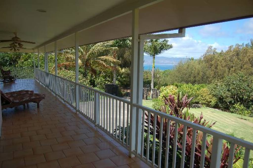 View from the Lanai looking South West