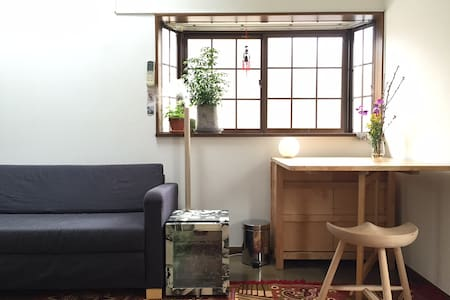 This apartment is ideal for couples and small groups looking for a comfortable place to call home while on vacation. The sky lights and windows allow the space to be bright during the day. At night the loft bed is a cozy haven to sleep soundly.