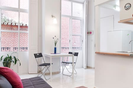 I rent this charming little studio in the heart of Málaga. It is located in the very centre of the old city, set in a pedestrian street, 1-5 minutes walking to the most important sights, 10 minutes walking from the beach.