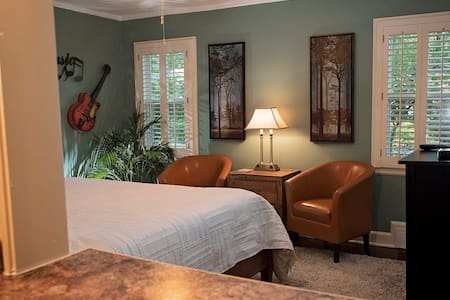 PRIVATE Midtown Suite-MINS from Overton Sq, CY, DT - Memphis - Hus