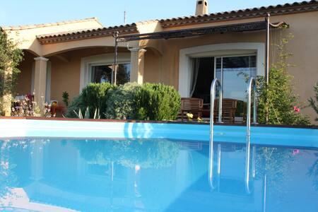 Grande villa dans l'Aude au calme