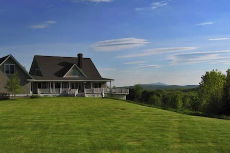 Perfect New England retreat near the Dartmouth College, the mountains, the Connecticut River and nature. This 12 acre property has Views into Vermont.  3 Bedroom home, 2 1/2 baths, accommodates 6 people.
