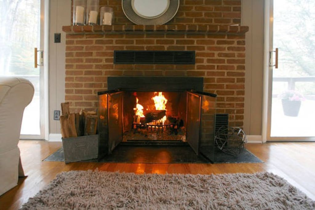 Cozy fireplace, we provide all the wood