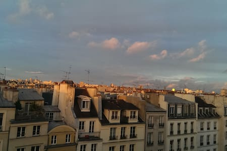 Charming view on Paris' roofs