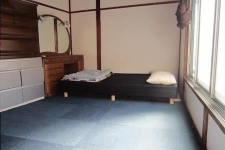 Private Room for maximum of  two people in International Shared Accommodation in Asakusa, Tokyo. One semi-double bed (140cm * 210cm). minimum term of stay is 3 days.