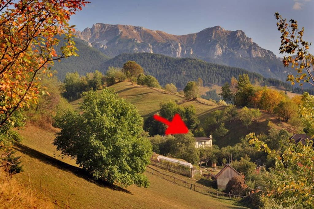 Casa Heidi in autumn. During one of our trips, we discovered this great angle of our house...