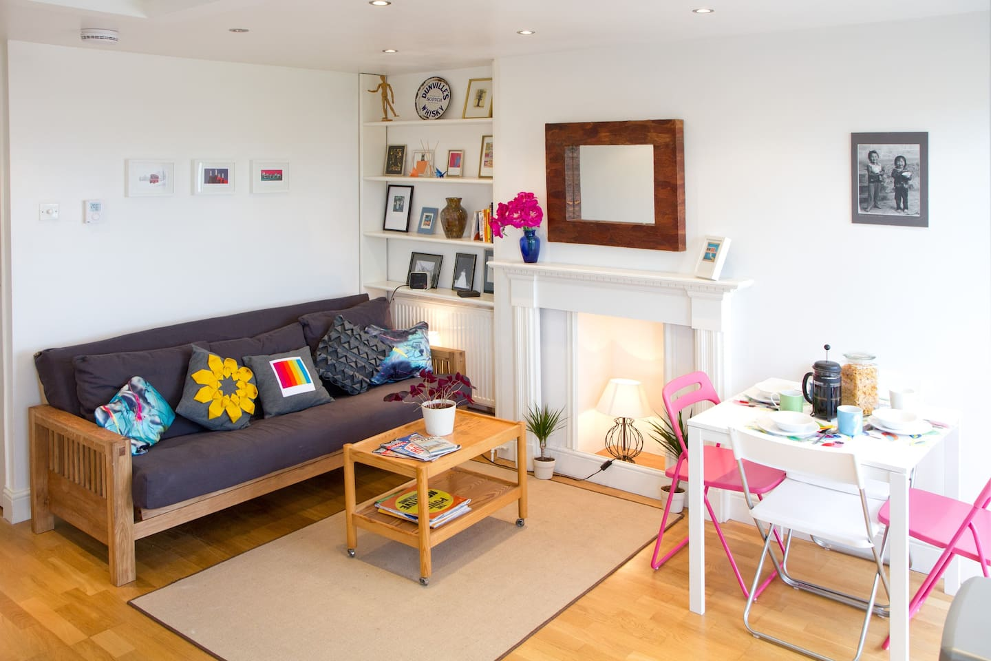 Base your London adventure in our bright and colourful studio!