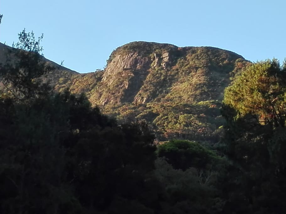 Hakgala Mountain Sun Shining early Morning,