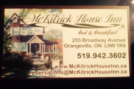McKitrick House Inn Bed n Breakfast - Orangeville - Bed & Breakfast