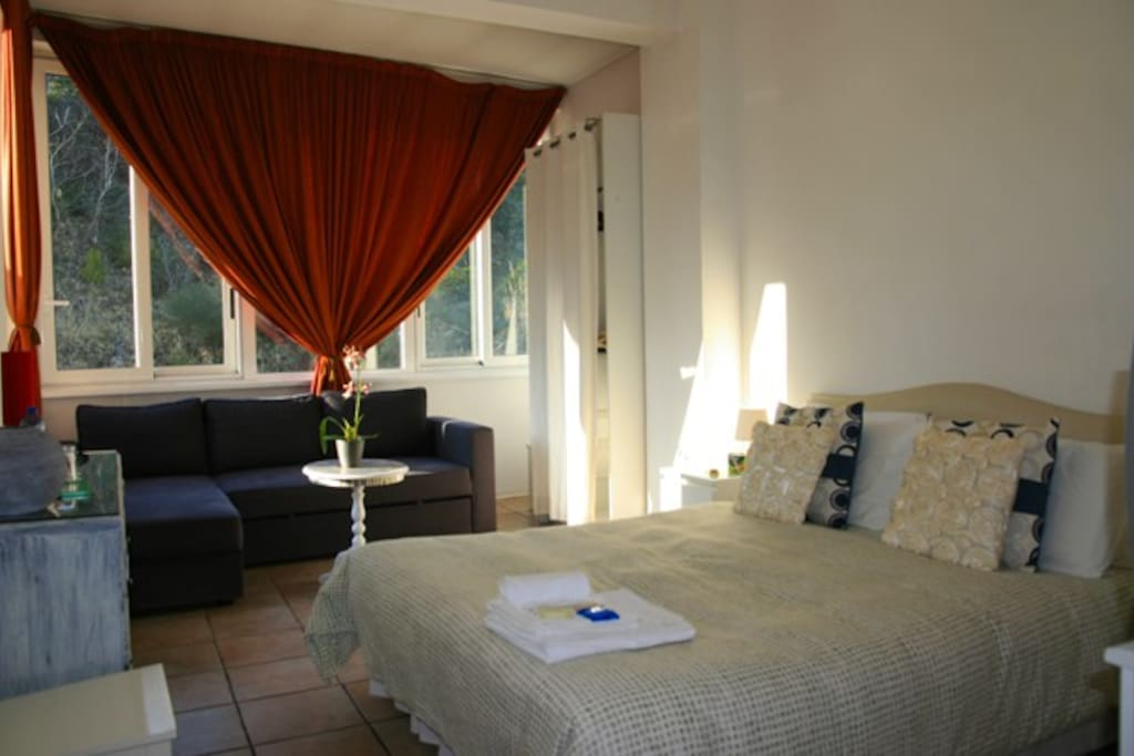 Triple Room with private bathroom, Air conditioning, tv, fridge (Double bed + Single bed)