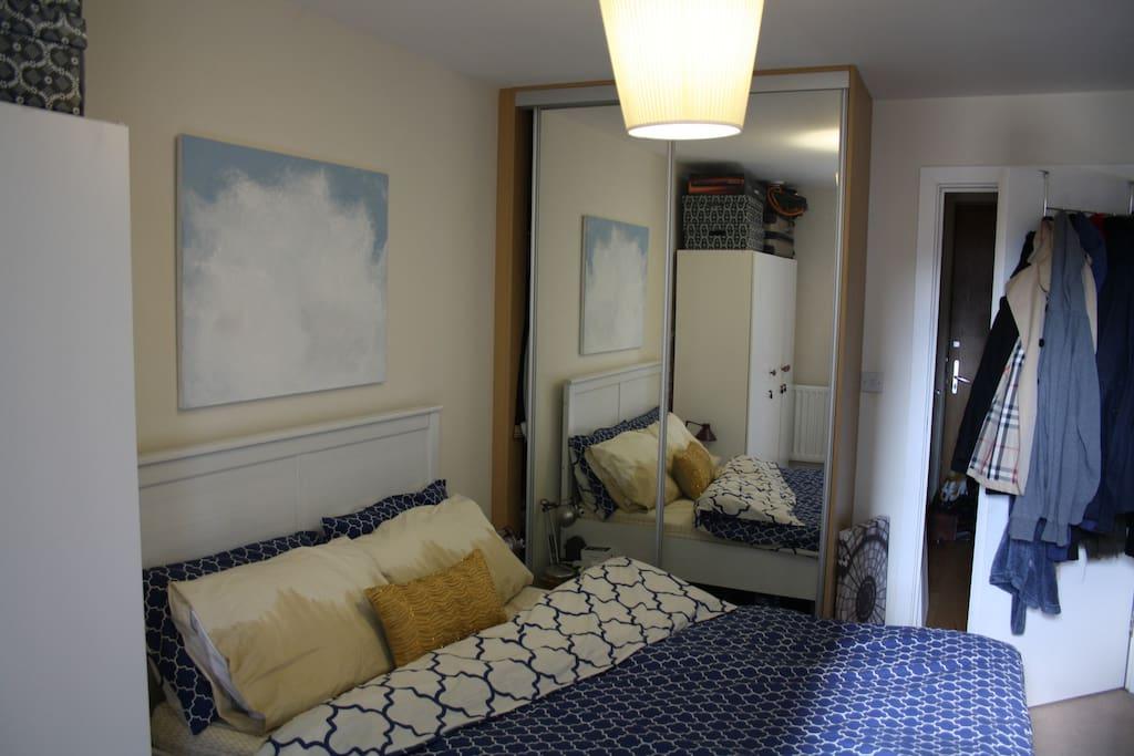 Comfortable bedroom.