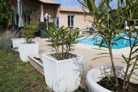 Chambre privée 2 lits dans villa avec piscine. - Toulouse - Haus