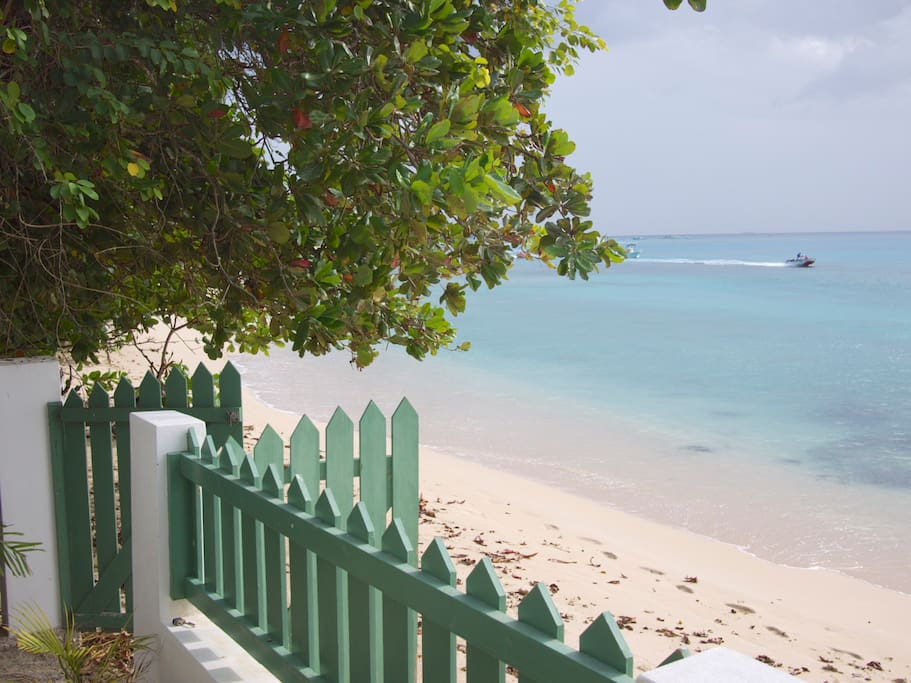 View from the veranda steps to the ocean