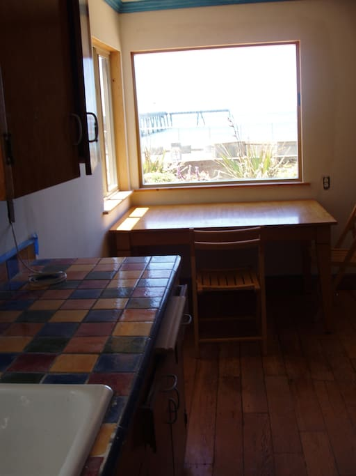 Kitchen table facing the ocean