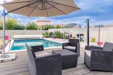 Villa avec piscine à 20 minutes de la plage - Nézignan-l'Évêque - Villa