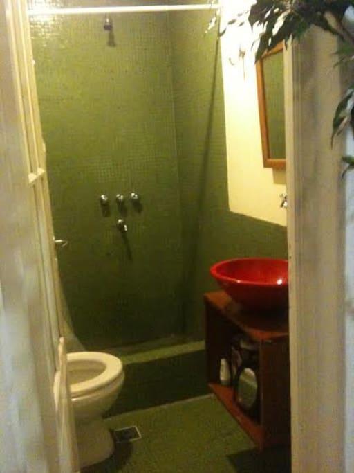 The bathroom, es confortable and warm