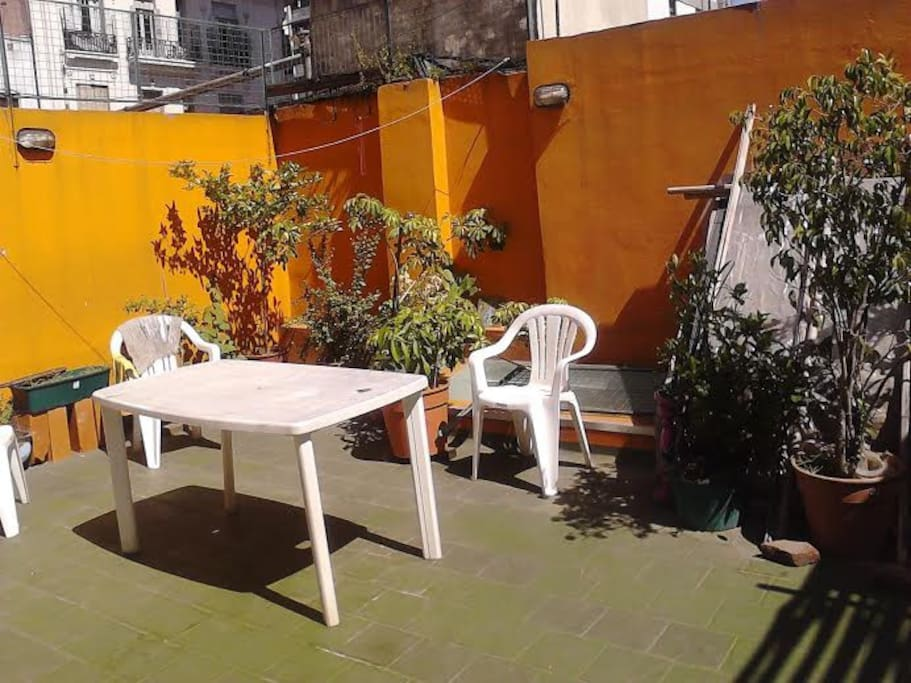 Terraza. The sun and the moon always visit this beautifull place. Also u can prepare barbacue