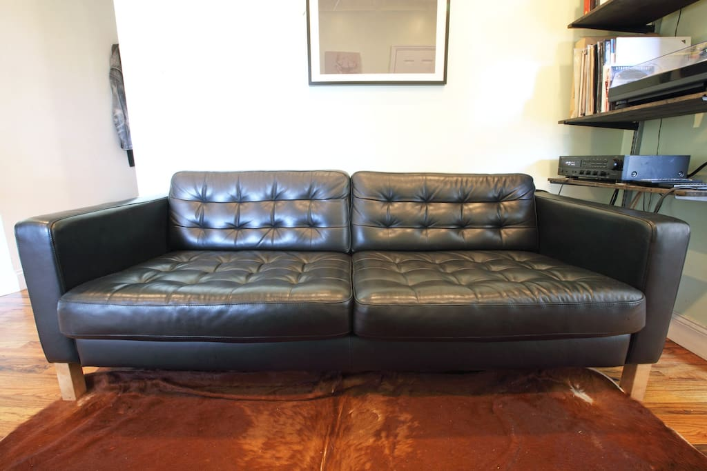 Big comfy couch, hi-fi stereo