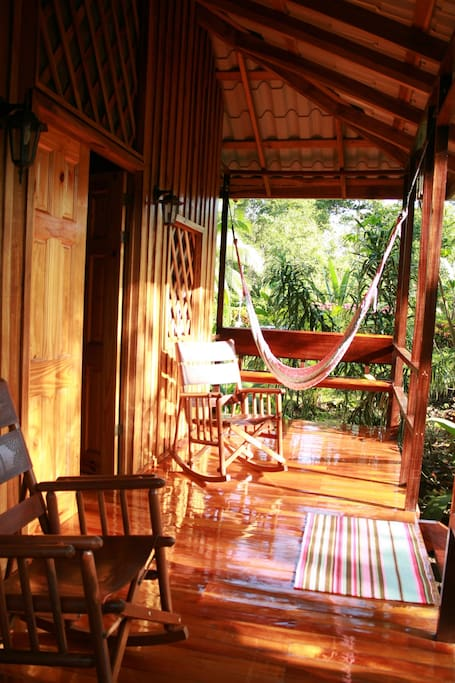 Great porches to relax and enjoy the wildlife