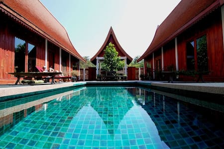 GREEN GECKO is a  very Thai villa with superb Thai food - and  the most private swimming pool in a peaceful and authentic rural setting.