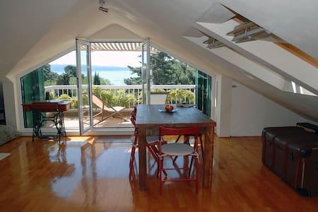 Island view loft studio near beach - Split