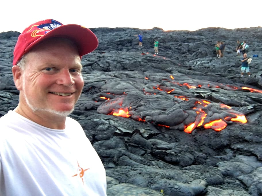 Your host, Danny at the current Lava Flow 7/18/16